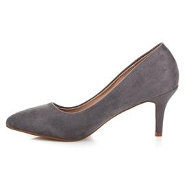 Suede High Heels grey 3