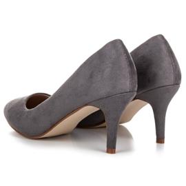 Suede High Heels grey 4