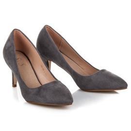 Suede High Heels grey 5