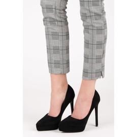 Bestelle Suede heels on the platform black 1