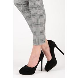Bestelle Suede heels on the platform black 2