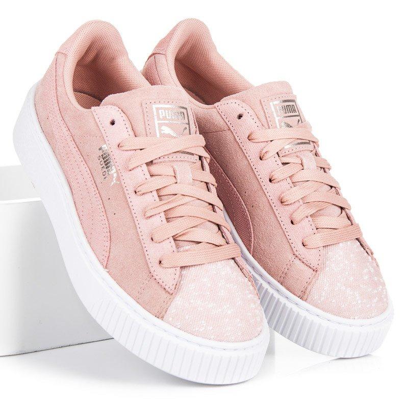 Puma Suede Platform Pebble WN`S pink