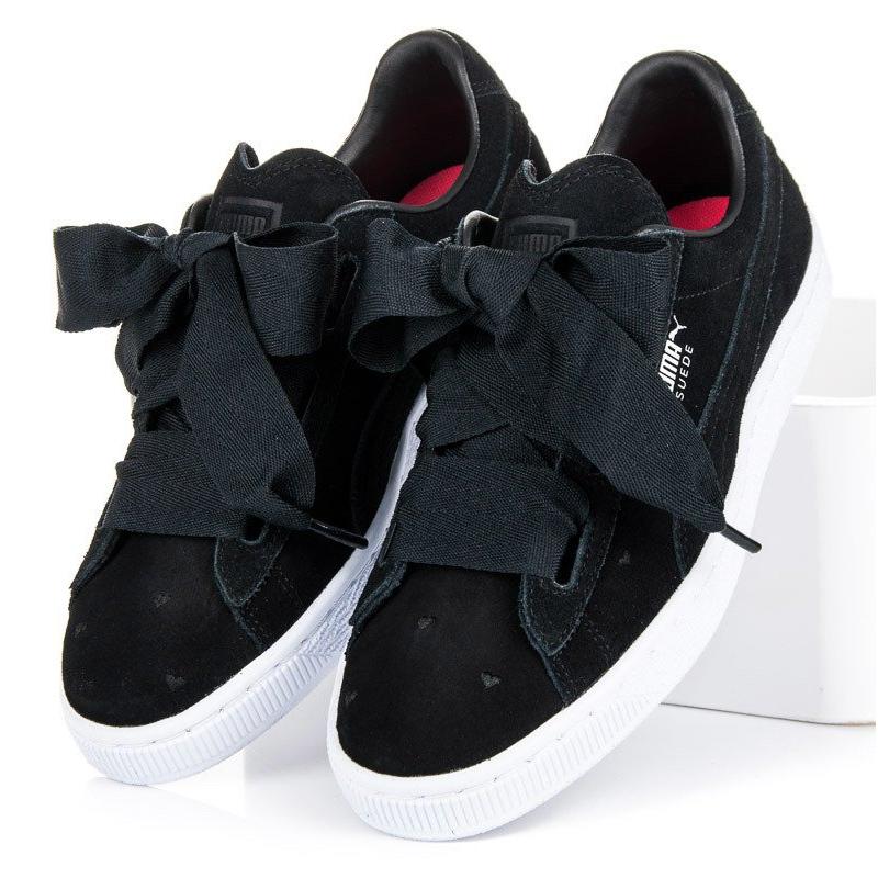 promo code 145ec ac5a9 Black Puma Suede Heart Valentine Jr