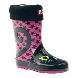 American Club Galoshes sock + insole American kitten pink black 1