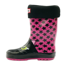 American Club Galoshes sock + insole American kitten pink black 2