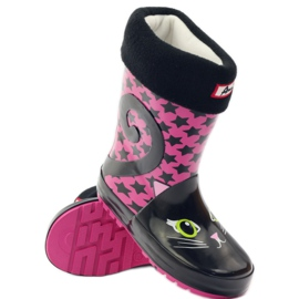 American Club Galoshes sock + insole American kitten pink black 3