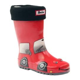 American Club Wellington boots sock plus RED CAR insert grey black 1