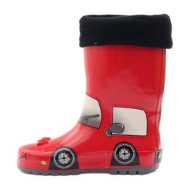 American Club Wellington boots sock plus RED CAR insert grey black 2