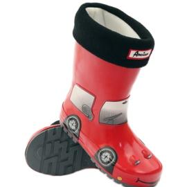 American Club Wellington boots sock plus RED CAR insert grey black 3