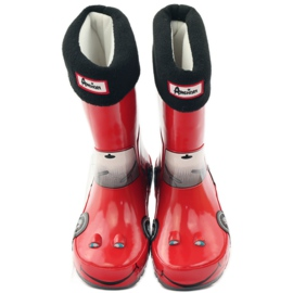 American Club Wellington boots sock plus RED CAR insert grey black 4