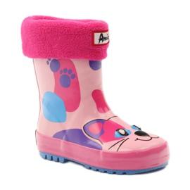 American Club Galoshes sock + American kitty pink 1