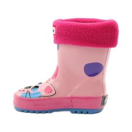 American Club Galoshes sock + American kitty pink 2
