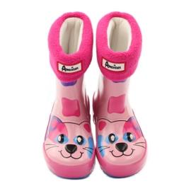 American Club Galoshes sock + American kitty pink 4