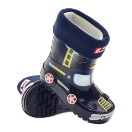 American Club Wellington boots sock + insole American TRUCK yellow red navy 3