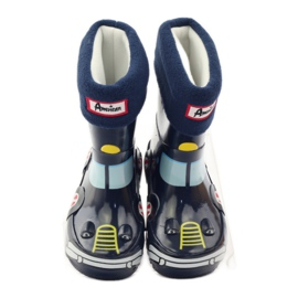 American Club Wellington boots sock + insole American TRUCK yellow red navy 4