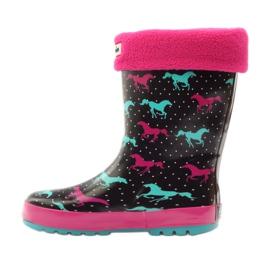 American Club Wellington boots socks + insert American horses black green pink 2