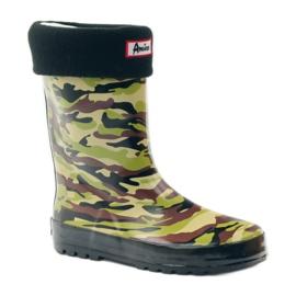 American Club Wellington boots sock + American camo insert green brown black 1