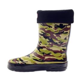 American Club Wellington boots sock + American camo insert green brown black 2