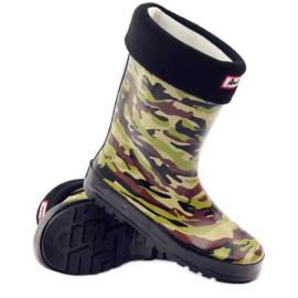 American Club Wellington boots sock + American camo insert green brown black 3