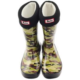 American Club Wellington boots sock + American camo insert green brown black 4