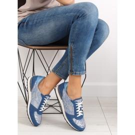 Sport shoes with lace Y620 D. Blue 5