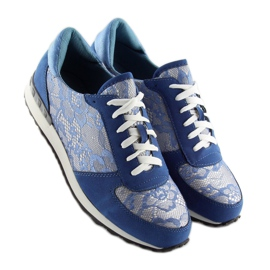 Sport shoes with lace Y620 D. Blue 1