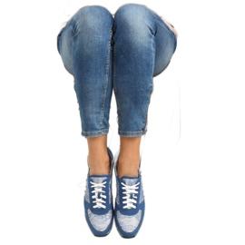 Sport shoes with lace Y620 D. Blue 4