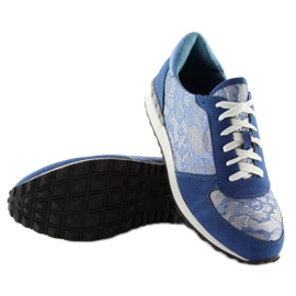 Sport shoes with lace Y620 D. Blue 2