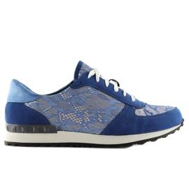 Sport shoes with lace Y620 D. Blue 3