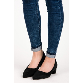 Best Shoes Suede pumps with low heels black 2
