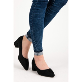 Best Shoes Suede pumps with low heels black 3