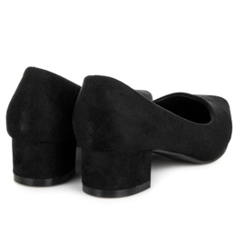 Best Shoes Suede pumps with low heels black 5