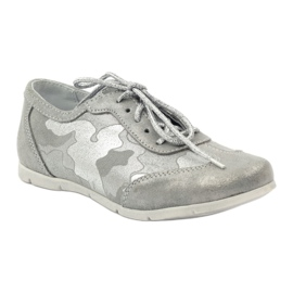 Athletic shoes bonded Ren But silver grey 1
