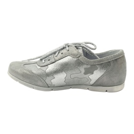 Athletic shoes bonded Ren But silver grey 2