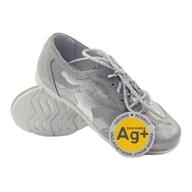 Athletic shoes bonded Ren But silver grey 3