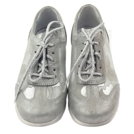 Athletic shoes bonded Ren But silver grey 4