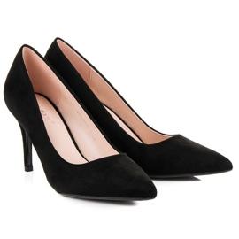 Milaya Suede black high heels 5