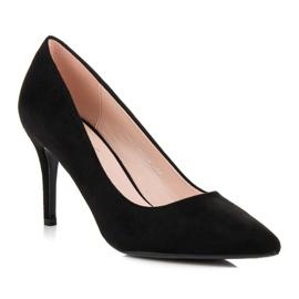 Milaya Suede black high heels 2