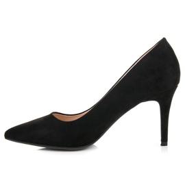 Milaya Suede black high heels 3