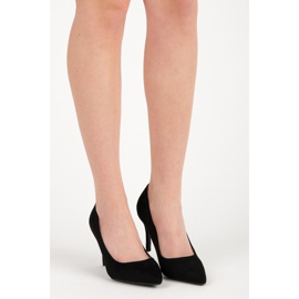 Milaya Suede black high heels 6