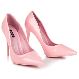 Pale pink high heels vices 5