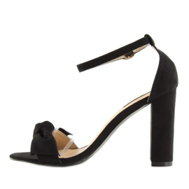 Sandals high heels black 118-11 black 1