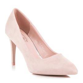Powder Heels From Suede pink 1