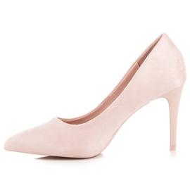 Powder Heels From Suede pink 2
