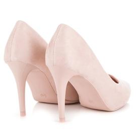 Powder Heels From Suede pink 3