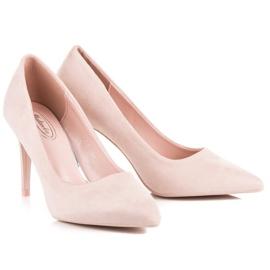 Powder Heels From Suede pink 4