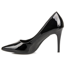 Lacquered pumps on a pin black 1