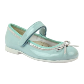 American Club Ballerinas pumps with an American bow green 1