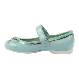 American Club Ballerinas pumps with an American bow green 2