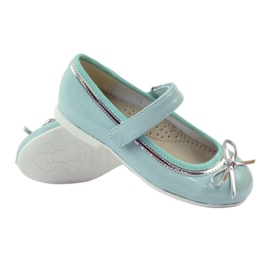 American Club Ballerinas pumps with an American bow green 3